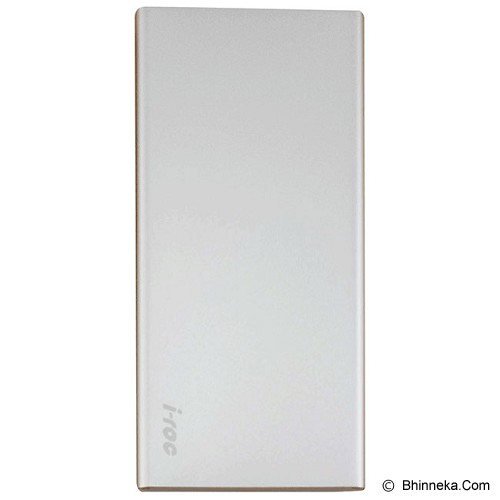 IROC Powerbank 10000 mAh [Slim SM-10] - Silver - Portable Charger / Power Bank